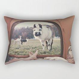 ALPACA  - CAMPING WITH FRIENDS Rectangular Pillow