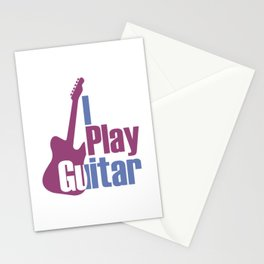 I Play Guitar Stationery Cards