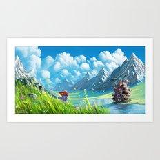 Howls Moving Castle Art Print