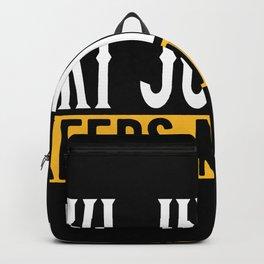 Ski Jumping Lovers Gift Idea Design Motif Backpack