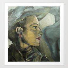 Ladies in Hats 2 Art Print