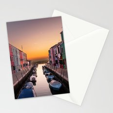 Boats Lined Up Stationery Cards