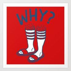 Soccer Socks Art Print