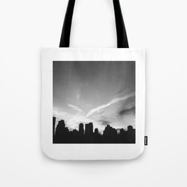 BLACK CITY SKY Tote Bag