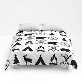 Outdoor Icon Pattern Comforters