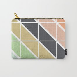 Retro Geometric Triangle Pattern Carry-All Pouch