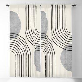 Sun Arch Double - Grey Blackout Curtain