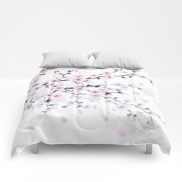Pastel Cherry Blossom Comforters