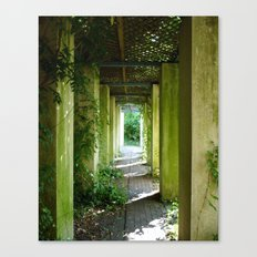 The Green Passage Canvas Print