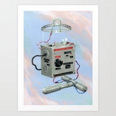 Uncle Rico's Time Machine Art Print