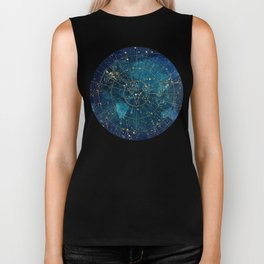 Star Map :: City Lights Biker Tank