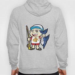 HAPPY FISHING KID with Rod and Swordfish Gift Hoody