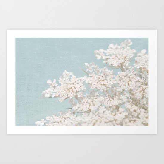 Pale Aqua: Dreaming of Spring Art Print