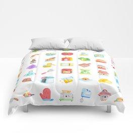 CUTE COOKING PATTERN Comforters