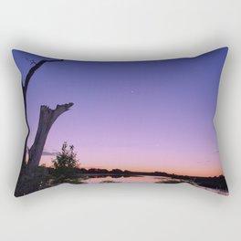 Purple Lake Rectangular Pillow