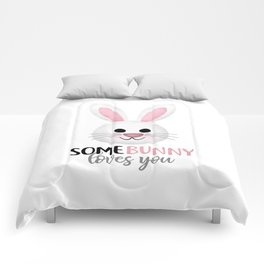SomeBunny Loves You Comforters