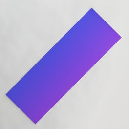 Neon Purple and Bright Neon Blue Ombré Shade Color Fade Yoga Mat