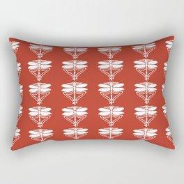 Brick Arts and Crafts Dragonflies Rectangular Pillow