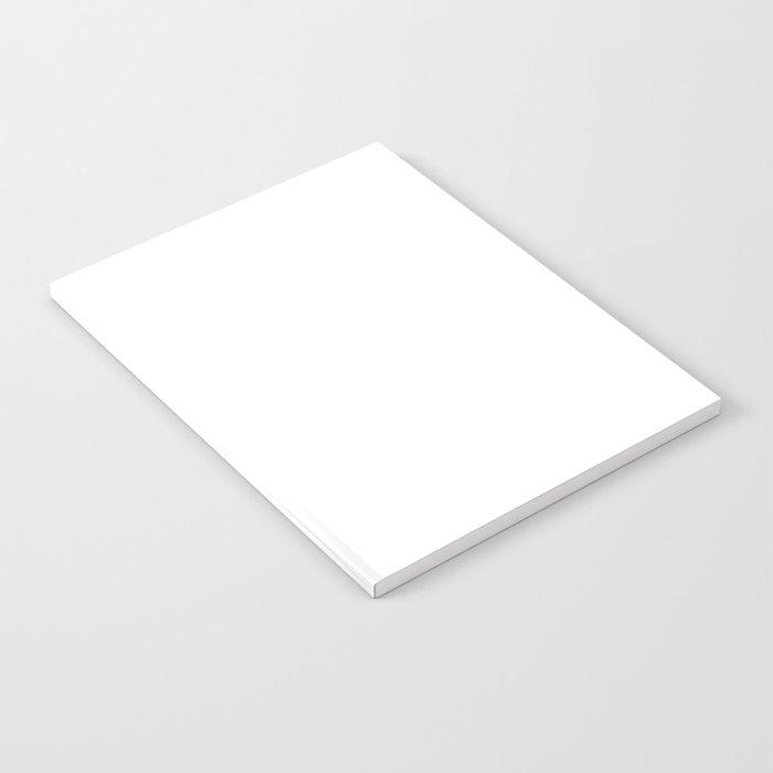 White Minimalist Notebook