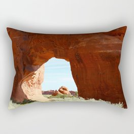At The End Of The Trail - Pine Tree Arch Rectangular Pillow
