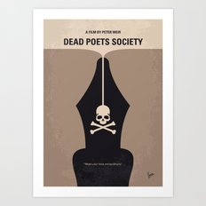 No486 My Dead Poets Society minimal movie poster Art Print