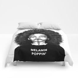 Melanin Poppin Comforters