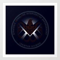 Hidden HYDRA - S.H.I.E.L.D. Logo with Wording Art Print