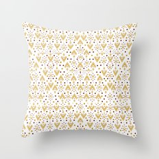Geometric Diamond repeating Throw Pillow