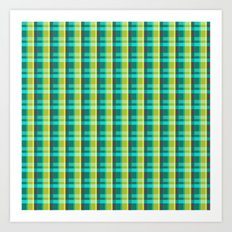 Lumberjack Attack! Plaid Art Print