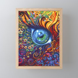 When Vision and Sight Unite by Laura Zollar Framed Mini Art Print