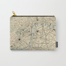 Vintage Map of London England (1901) Carry-All Pouch