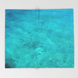 Clear Turquoise Water Throw Blanket