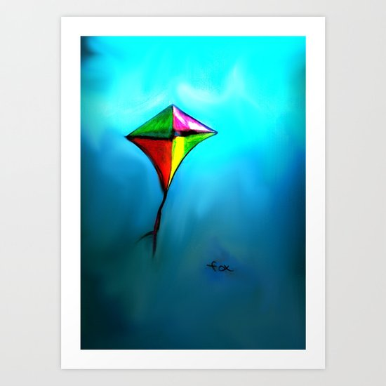 FLYING HIGH AND PROUD Art Print