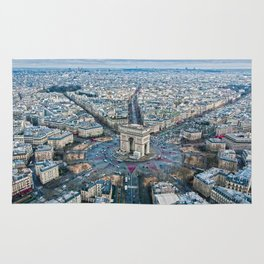 Arc de Triomphe Paris City Rug