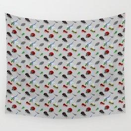 Bichos (Bugs) in pixels Wall Tapestry