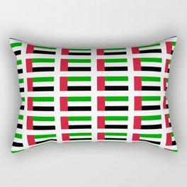 flag of UAE -united arab Emirates,Abu dhabi, dubai,emirati,الإمارات Rectangular Pillow