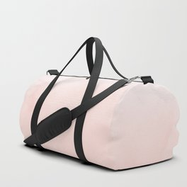 Blush Pink on White and Gray Marble II Duffle Bag