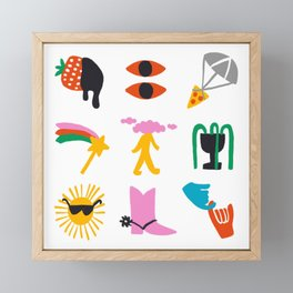 Relevant Symbols Framed Mini Art Print