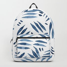 Abstract Indigo Pattern Backpack