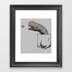 Space slug Framed Art Print