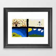 Seasons by Child Framed Art Print