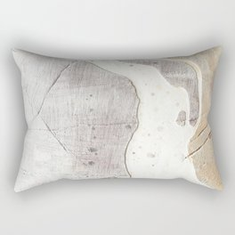 Feels: a neutral, textured, abstract piece in whites by Alyssa Hamilton Art Rectangular Pillow