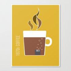 70s Coffee Canvas Print