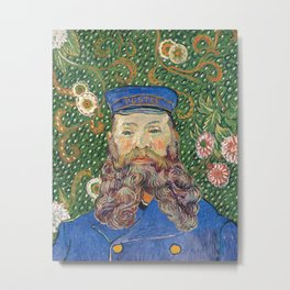 Portrait of the Postman by Vincent van Gogh Metal Print