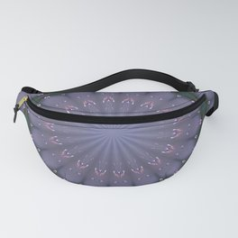 BUTTERFLIES AND BEADS IN PURPLE Fanny Pack