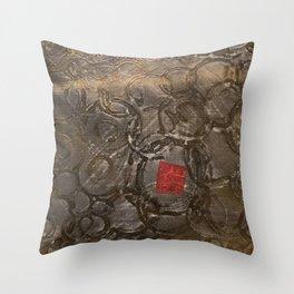 perplexed gold Throw Pillow