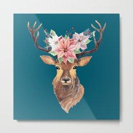 Winter Deer IV Metal Print