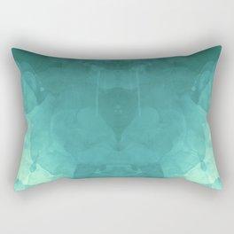 Teal Texture Rectangular Pillow