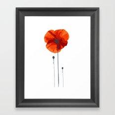 Poppy poppy poppy Framed Art Print