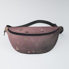 checks dark red purple Fanny Pack